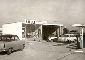 Tankstelle im Jahre1961